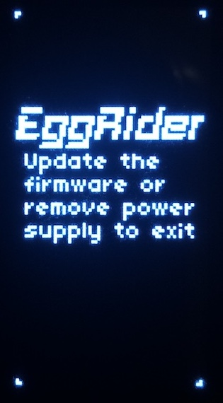 """EggRider display udate screen"""